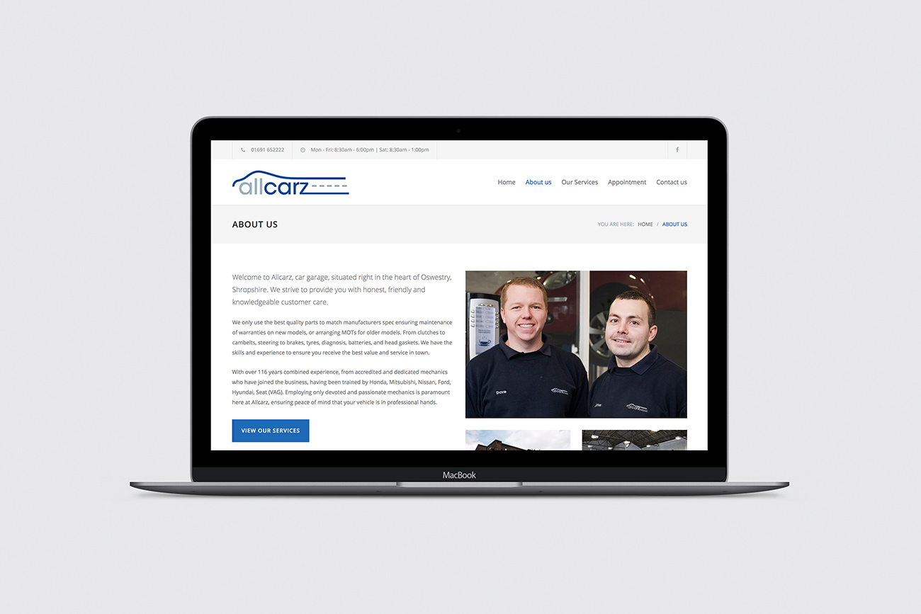Allcarz Website Design